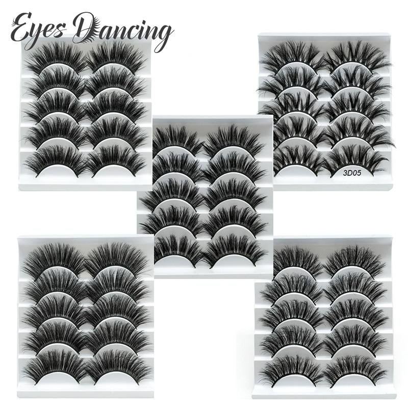 Ojos bailando 10 pares 3D pestañas de visón criss-cross natural pestañas largas maquillaje para pestañas extensión herramienta establece volumen pestañas
