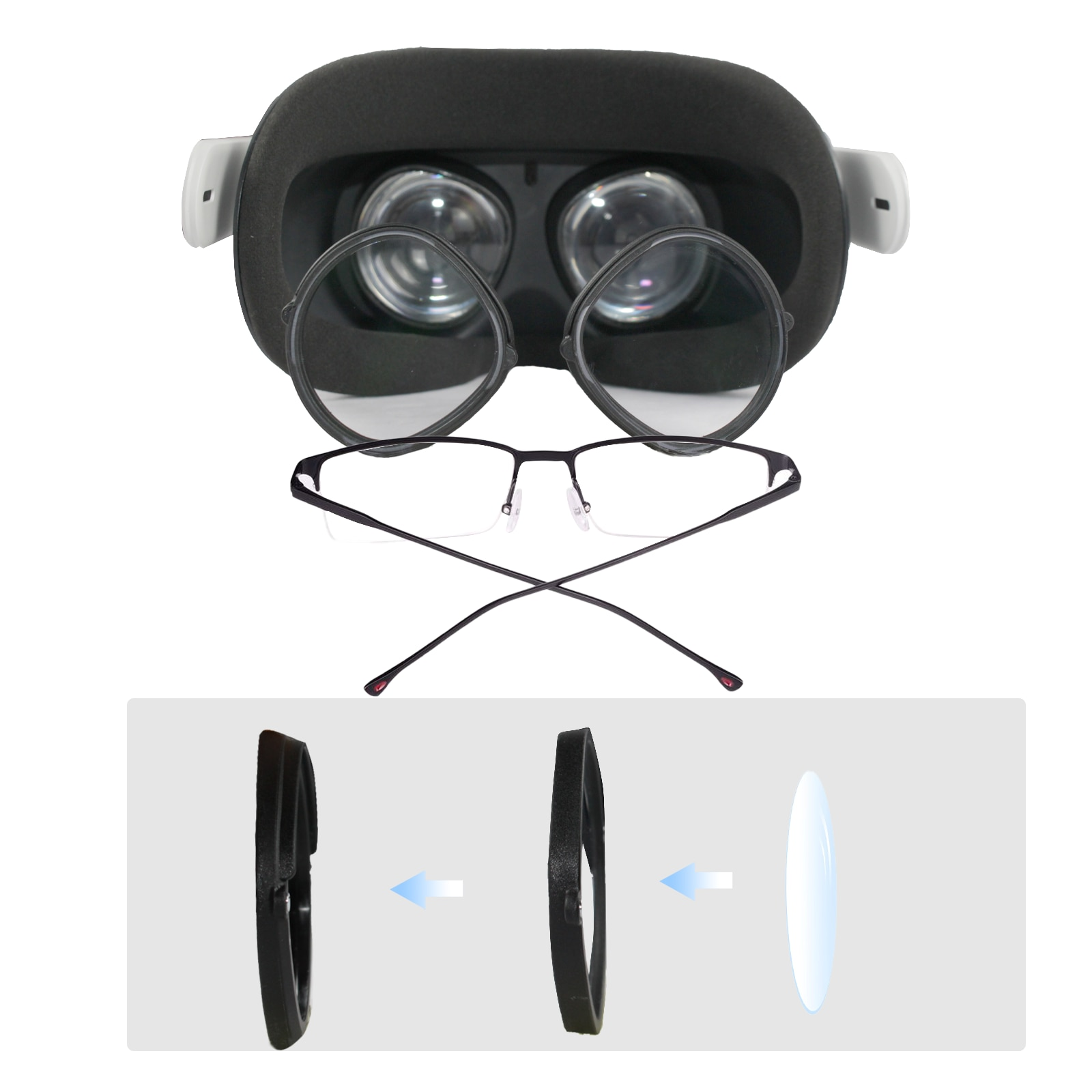 quest 2 battery . Suitable for Oculus Quest 2 VR Magnetic Glasses Anti-Blu-ray Frame Virtual Reality Accessories
