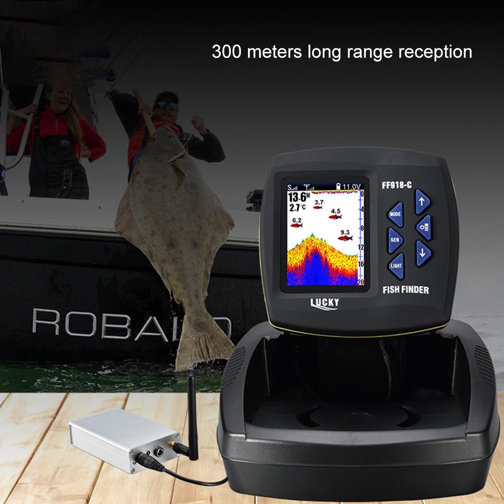 FF918-CWLS Smart Fish Finder Wireless Fishing Finder Depth 300M Sonar Sensor Echo Sounder Fish finder Lake Sea Fishing enlarge