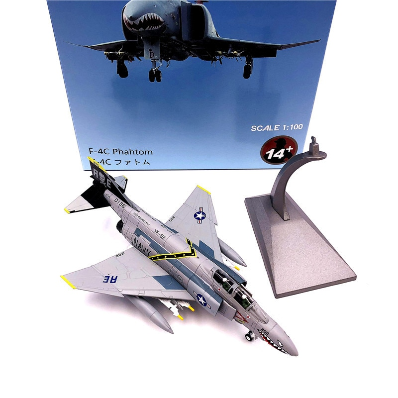 купить 1:100 1/100 Scale US F-4  Phantom Ⅱ VF-84 Fighter Diecast Metal Airplane Plane Aircraft Model Toy в интернет-магазине