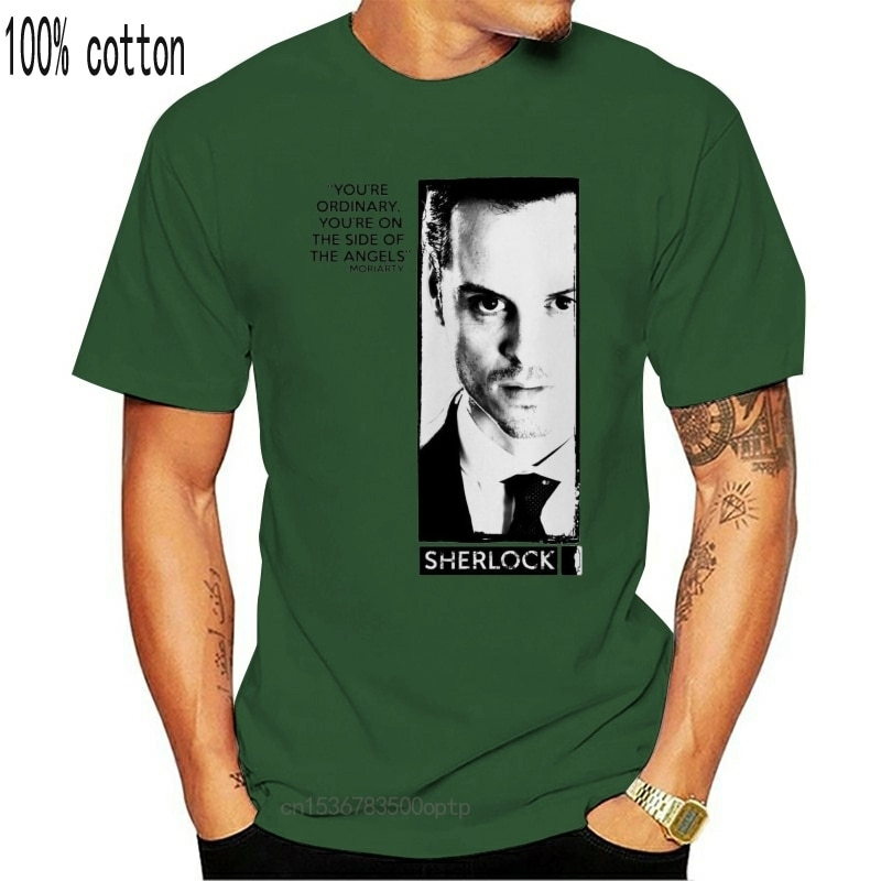 Erwachsene Weiß Detektiv Tv Show Sherlock Holmes Moriarty Zitieren T-Shirt T Nach Maß T Hemd
