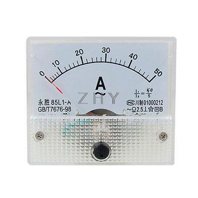 Clase 2,5 85L1 AC 0-50A rectángulo Panel analógico medidor