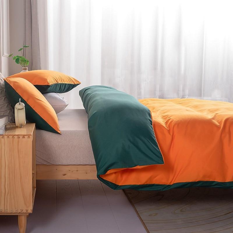 الشمال مزدوجة السرير حاف مجموعة غطاء جانبي مختلف الألوان الصلبة أغطية سرير التوأم كامل الملكة طقم فرش أسرة كينج سايز لغرفة النوم