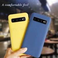 candy color silicone phone case for samsung galaxy s10 full body protection shockproof cover case for galaxy s10 sm g973fds 6 1