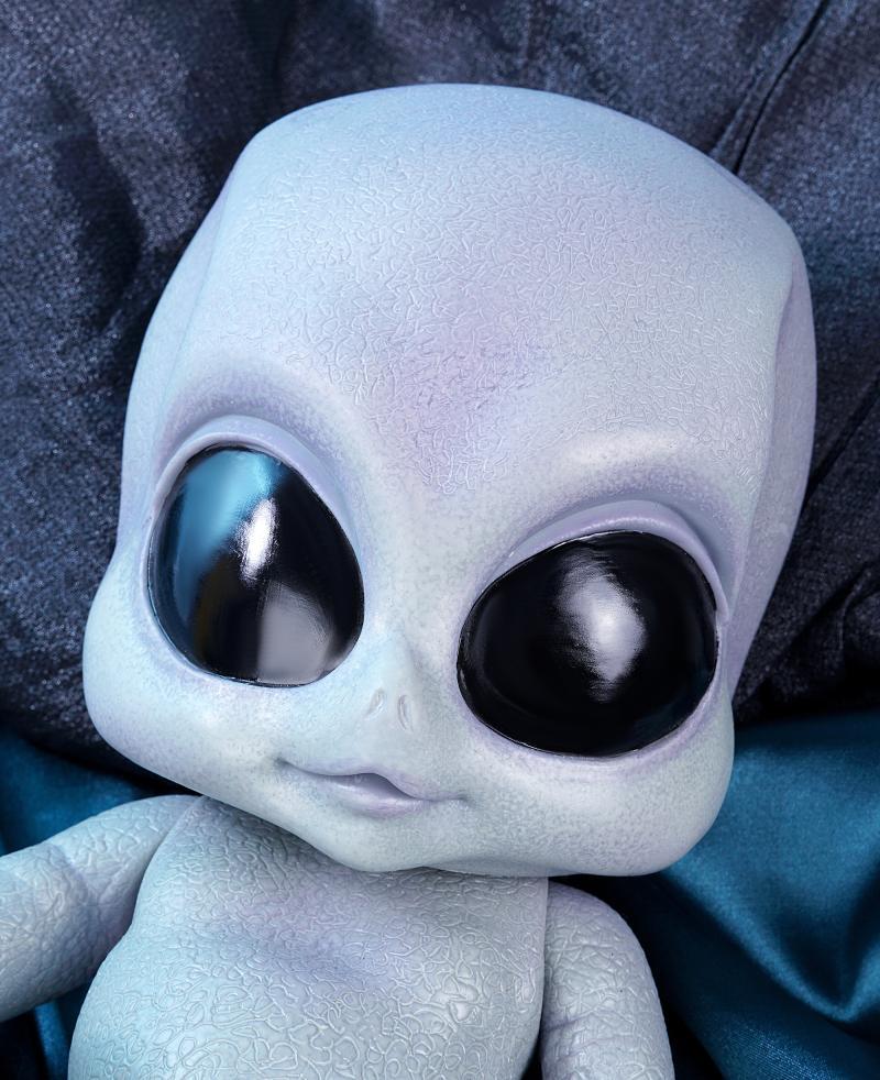 Juguetes creativos simulación alien baby doll 14 pulgadas 38cm full vinilo silicona muñeca bebe reborn muñecas