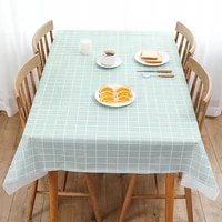 european style kitchen tablecloth oil proof disposable plastic tablecloth household high temperature decoration