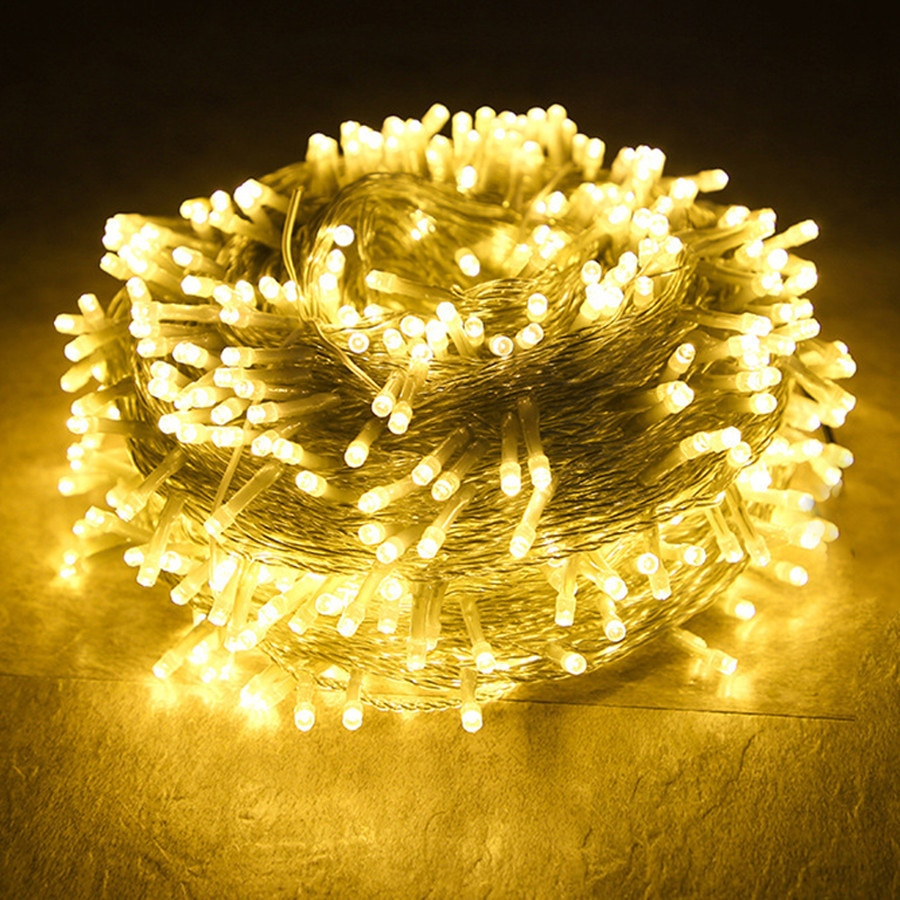 Thrisdar 100M 2000 LED Christmas String Light Outdoor Wedding Fairy Light String Garland For Christmas Tree Party Holiday Decor
