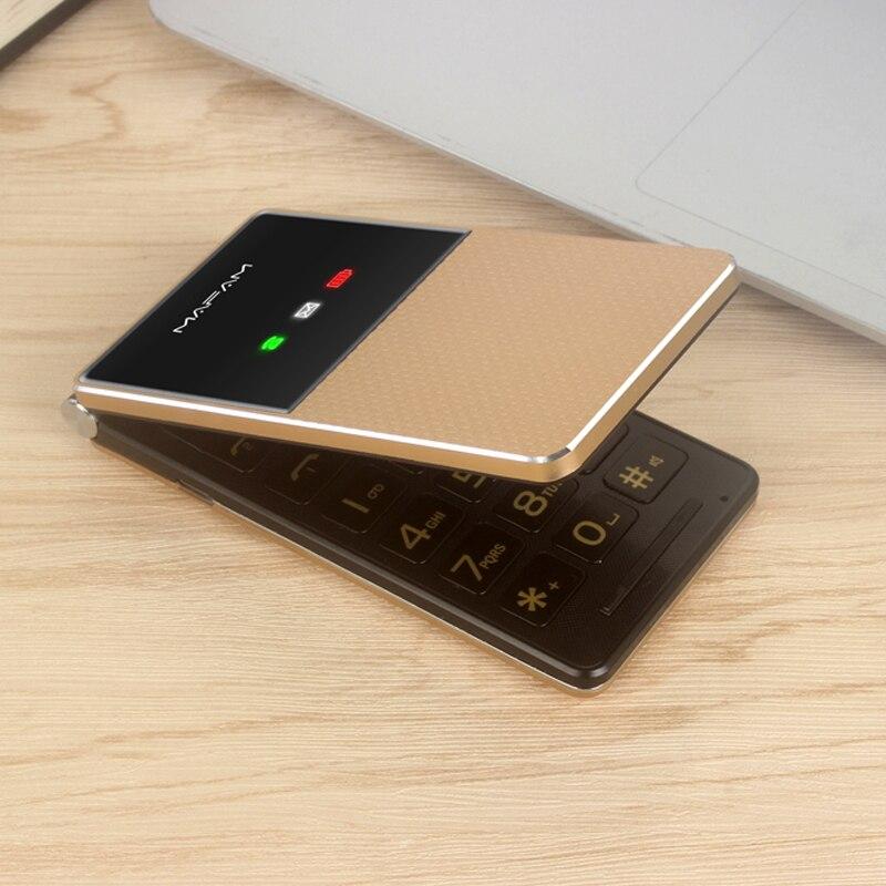 Old Man Extra Slim Light Flip Cellphone Dual Large Display Fast Dial Large Key Black List No FM Folder Senior Mobile Phone
