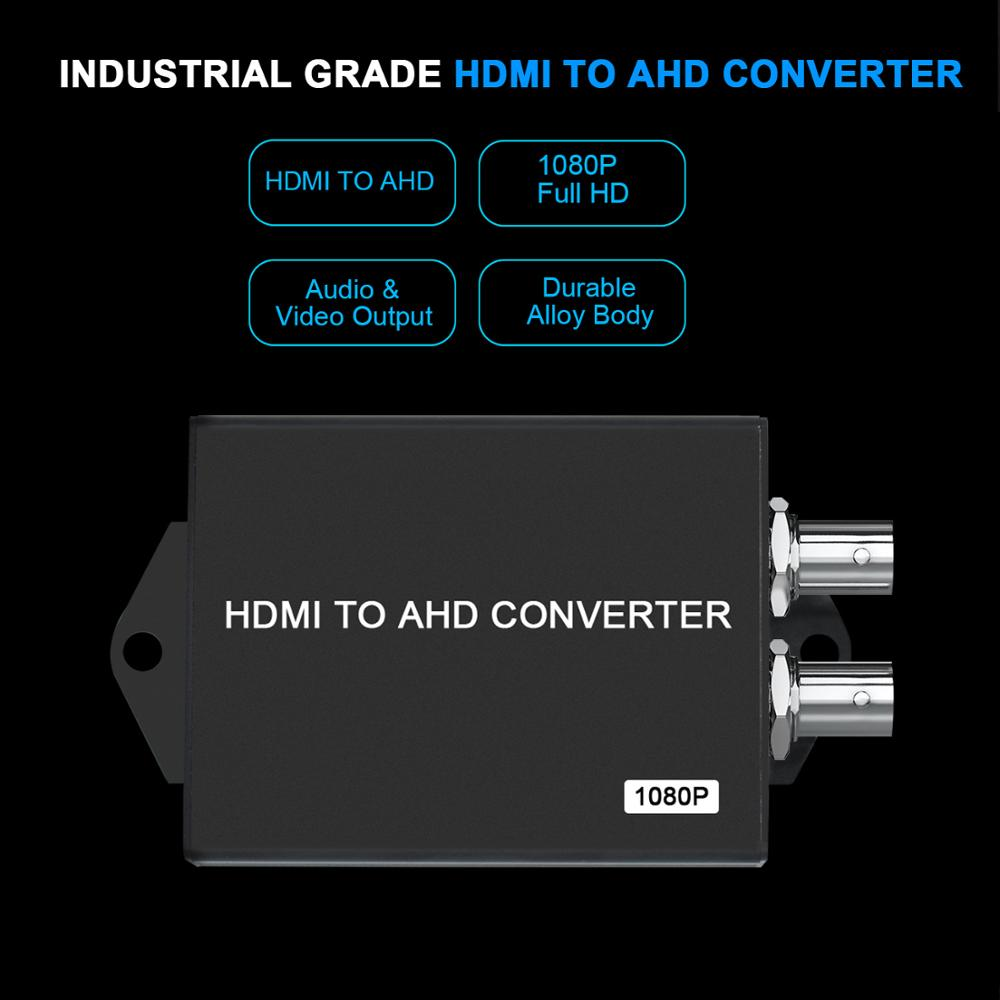 New 1080P Video HDMI to AHD Converter  signal converter HDMI to BNC HDMI coax cable For Camera CCTV Tester Converter enlarge