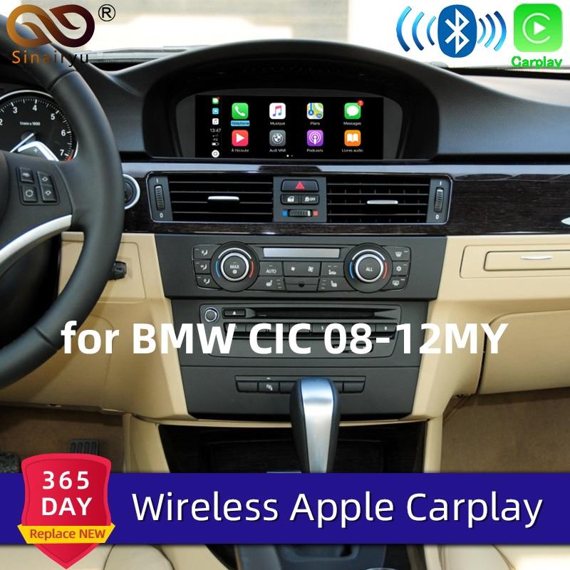 Sinairyu-Apple Carplay inalámbrico con WIFI para BMW CIC X1, X3, X5, X6, E70, E71, E84 y F25, espejo Android con soporte frontal CM