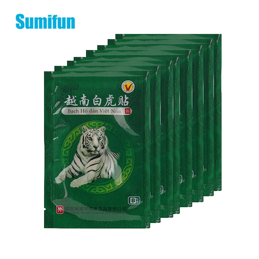 16/48pcs Vietnam White Tiger Balm Joint Aches Pain Patch Rheumatism Arthritis Sticker Chinese Medical Plaster Health Care C068 48pcs 6bags far ir treatment tiger balm plaster muscular pain stiff shoulder patch relief spondylosis health care product d1642