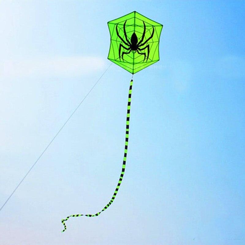 Envío Gratis araña cometa mosca para juguetes al aire libre paracaídas cometas para adultos águila hexagonal cometa moscas abrir mejores cometas fábrica