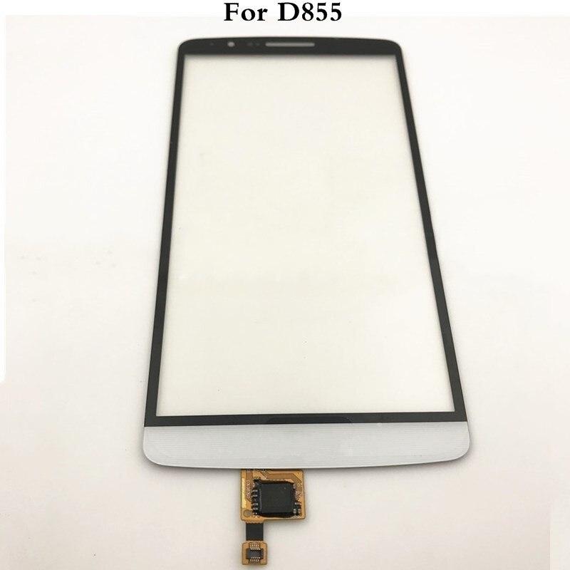 Tela de toque para lg g3 d855 d850 digitador da tela toque sensor vidro exterior código rastreamento