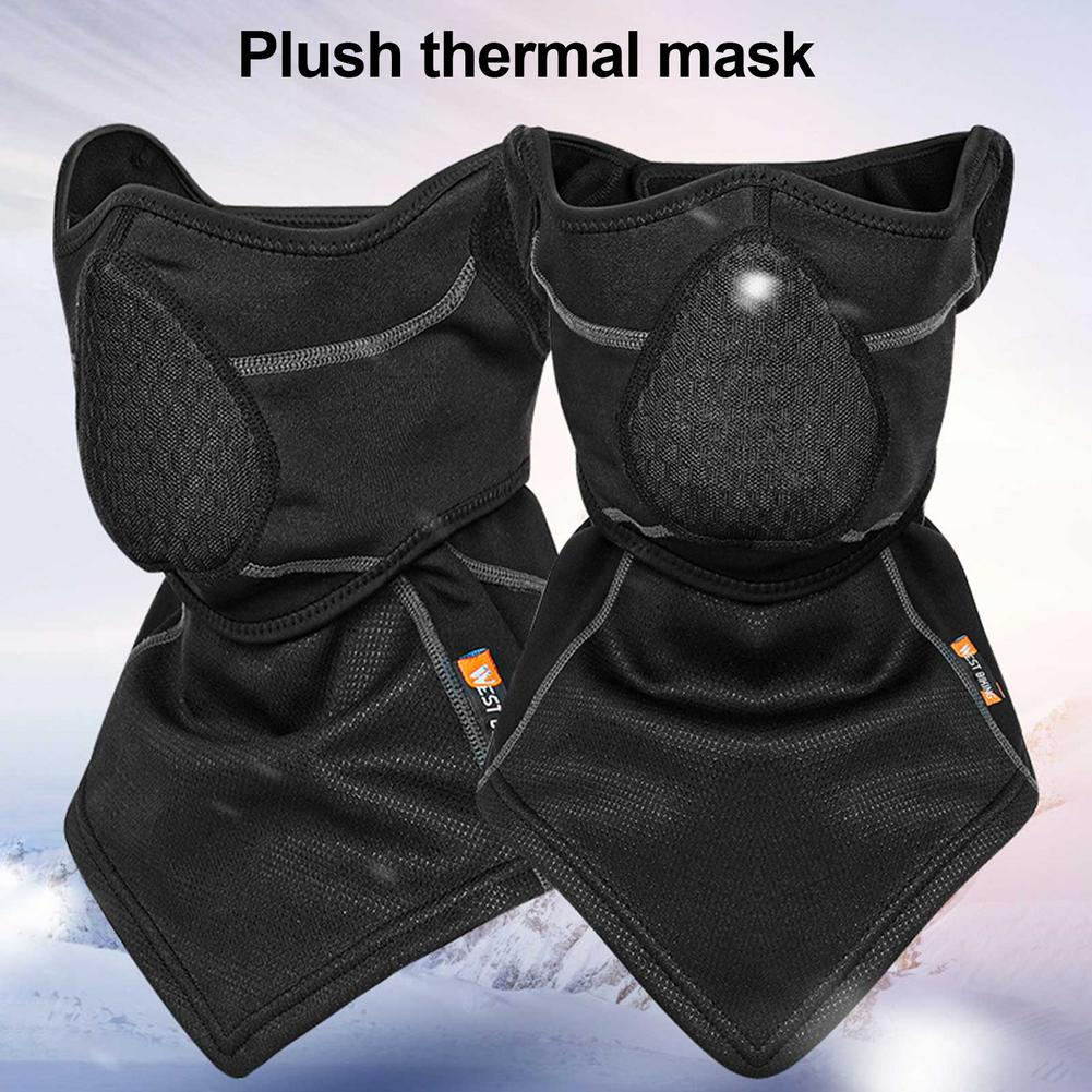 Trend Thermal Bomber Hats Ear Protection Face Windproof Ski Cap Velvet Thicken Couple Hat Windproof