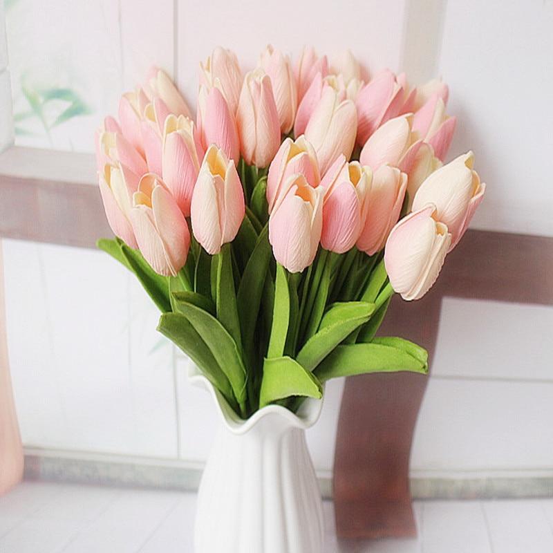 1Pcs Tulip Künstliche Blumen Real Touch Künstliche Bouquet Blumen für Home Geschenk Hochzeit Dekorative Blumen Künstliche Blumen