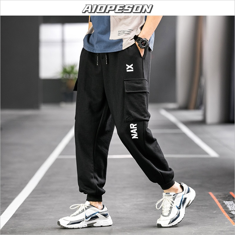AIOPESON 2021 New Printed Trousers Men Sports Casual Solid Color Men Joggers Sweatpants Spring Korean Streetwear Joggers Men