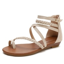 Wedge Heel Sandal Female New Fairy Joker Peep-toe Plus-size Shoes with Skirt Roman Shoes Shoes for W