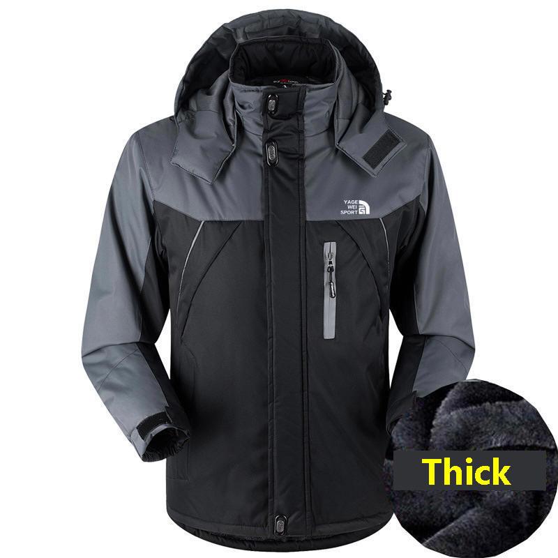 Men's Winter Jackets Windbreak Plus Velvet Thick Warm Windproof Fur Coats Male Military Hooded Anorak JacketsWinter Parka Men 4X