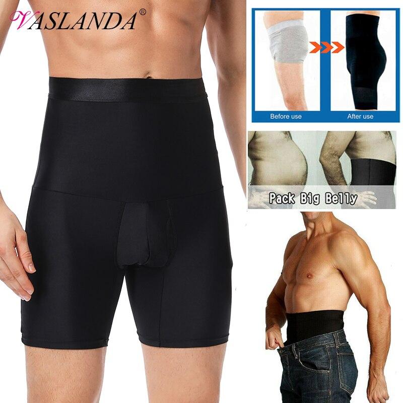 Men barriga controle shorts cintura alta emagrecimento roupa interior sem costura barriga cinta boxer briefs perda de peso cintura trainer corpo shaper