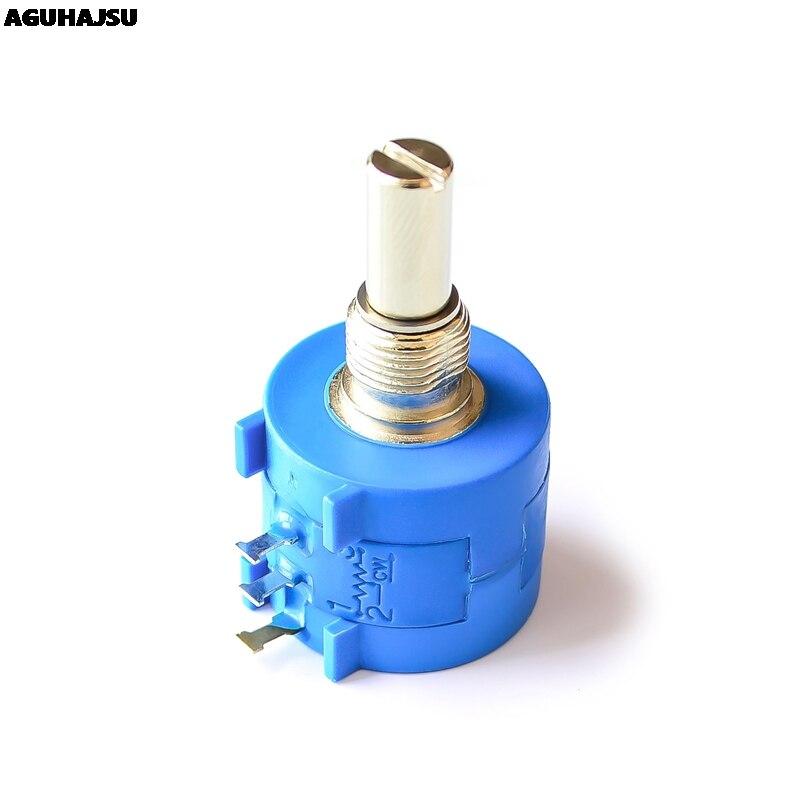 3590S 2 101 201 501 102 202 502 103 203 503 104 L 3590S 10K ohm Precisão Multiturn Potenciômetro 10 Anel Ajustável Resistor Circuitos integrados    -