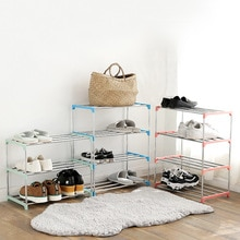 Proste wielowarstwowe stojak ze stali nierdzewnej łatwy montaż przechowywanie szafka na buty Organizer do domu akcesoria wieszak na buty