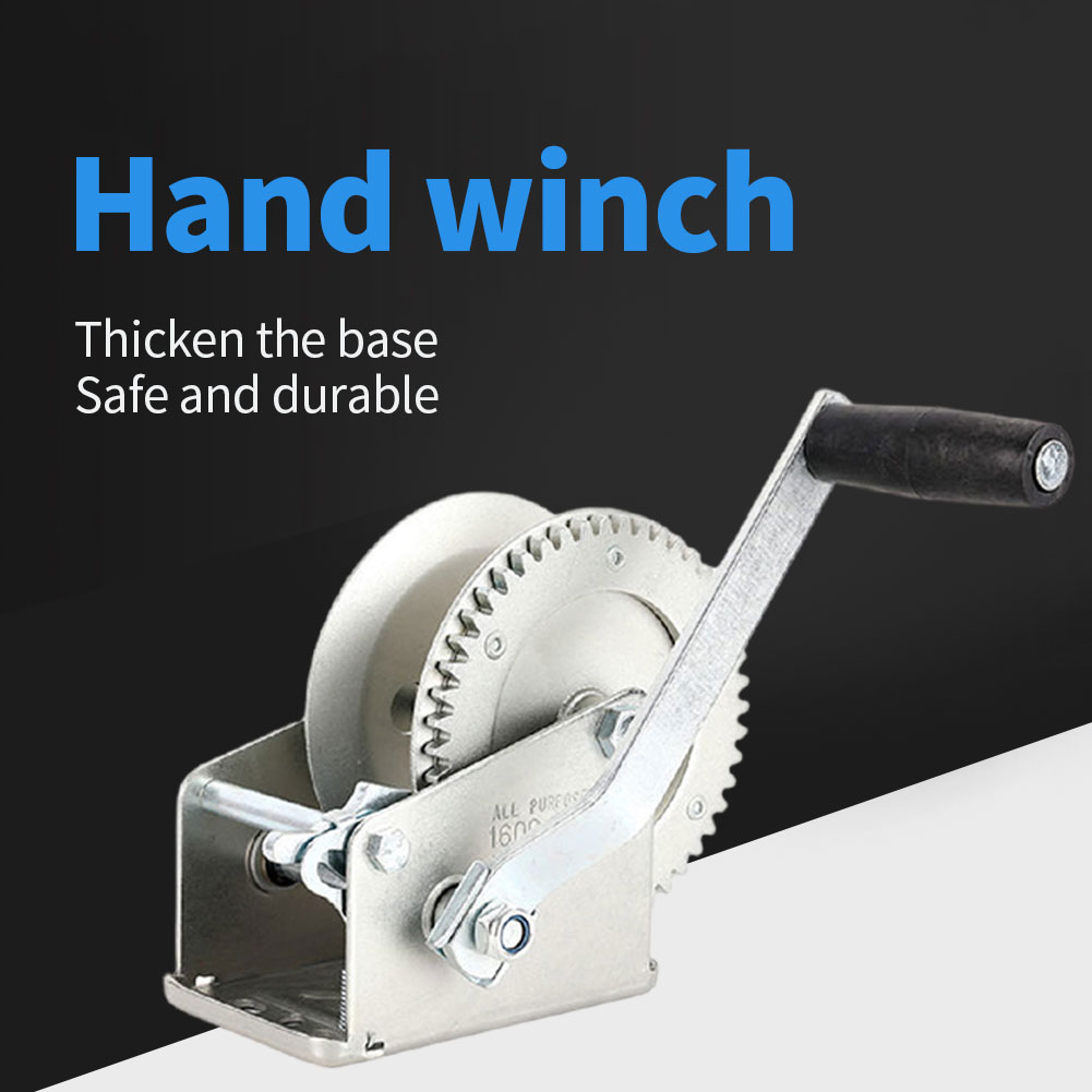 cable puller sling manual winch relay 4000kg with 2 gears for moving cars logs boat winch trailer Hand Winch Manual Boat Winch Black Strap Hand Crank Winch With Two Way Adjustable Towing Winch Boat Accessories Towing Winch
