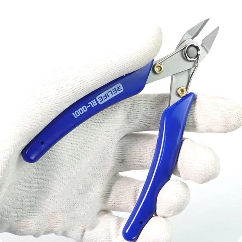Pinze diagonali di precisione da 5 pollici pinze da taglio per tagliacavi ad alta durezza HDR 56-58 utensili manuali per riparazioni elettroniche