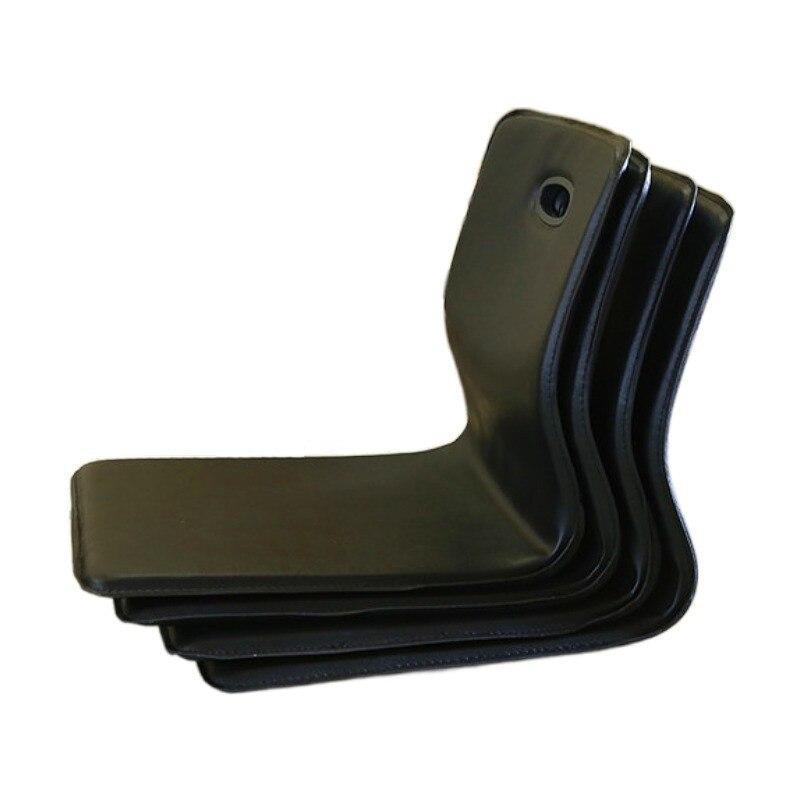 (4 قطعة/الوحدة) تاتامي Zaisu ليغليس كرسي فو الجلود أسود اللون أثاث غرفة المعيشة النمط الياباني الطابق الجلوس كرسي الآسيوية