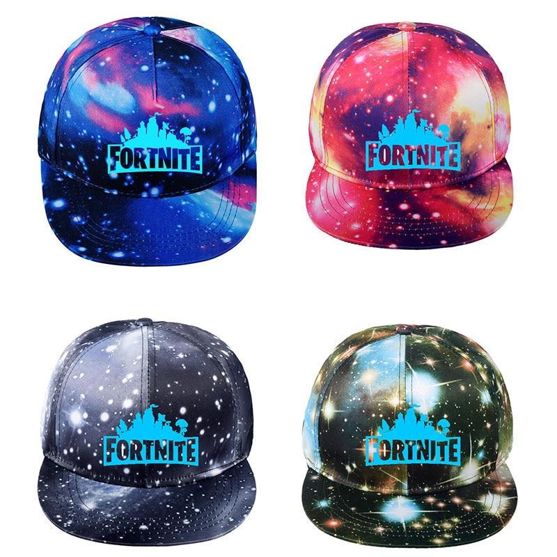 AliExpress - Fortnite Luminous Cap Children Cool Starry Sky Hat Toy Birthday Gifts Kids Canvas Baseball Kids Adult Adjustable trend Hat Men