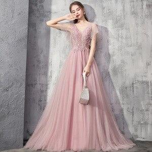Evening Dress 2021 New Gryffon Robe De Soiree Party Dress Formal Evening Gown Sexy V-neck Elegant Appliques Evening Dresses