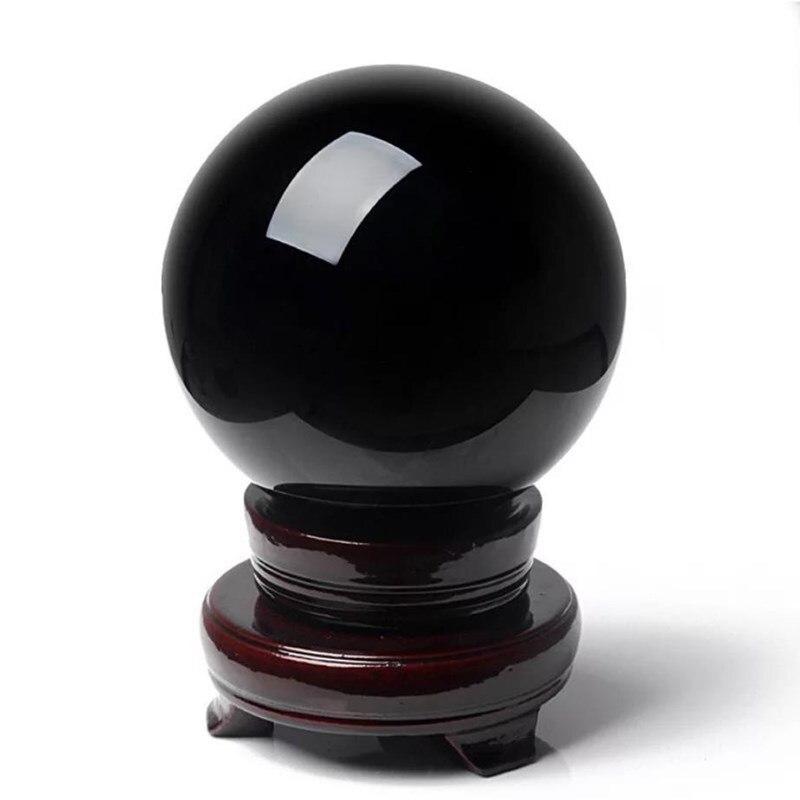 Bola de cristal de obsidiana de cuarzo mineral, piedras preciosas de cristal,...