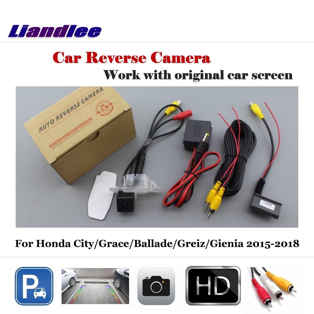 Cámara de respaldo de vehículo de coche para Honda City/Grace/Ballade/Greiz/Gienia 2015-2018 cámara de visión trasera automática cámara de respaldo accesorios de coche