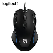 Logitech g300s gaming mouse 2500 dpi ergonômico com fio jogos de computador óptico mouse