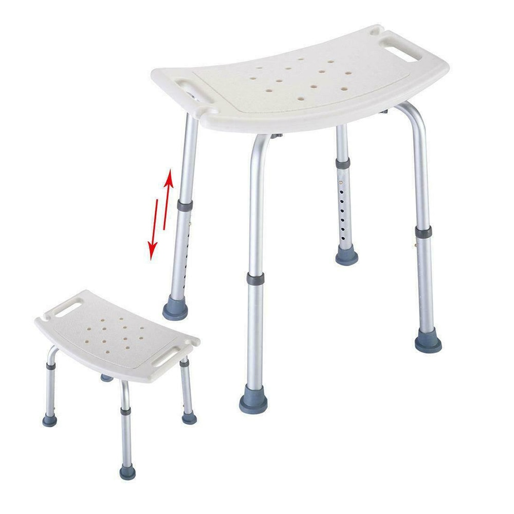 Non-slip Bath Chair 6 Gears Height Adjustable Elderly Bath Tub Shower Chair Bench Stool Seat Safe Bathroom Environment Product