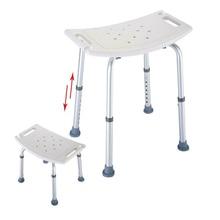 Silla de baño antideslizante de 6 velocidades, asiento de bañera para ancianos, altura ajustable, taburete de banco, producto seguro para el ambiente del baño