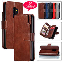 Luxury Leather Case For Galaxy S20 Plus S9 S9 Plus S8 S7 Edeg S20 FE S10E S21 Ultra Flip Cover Stand Wallet Holder Card Slots