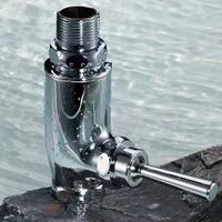 handle type flush valve of squatting pan brass hand press type quick open delay stool flush valve angle valve water bathroom
