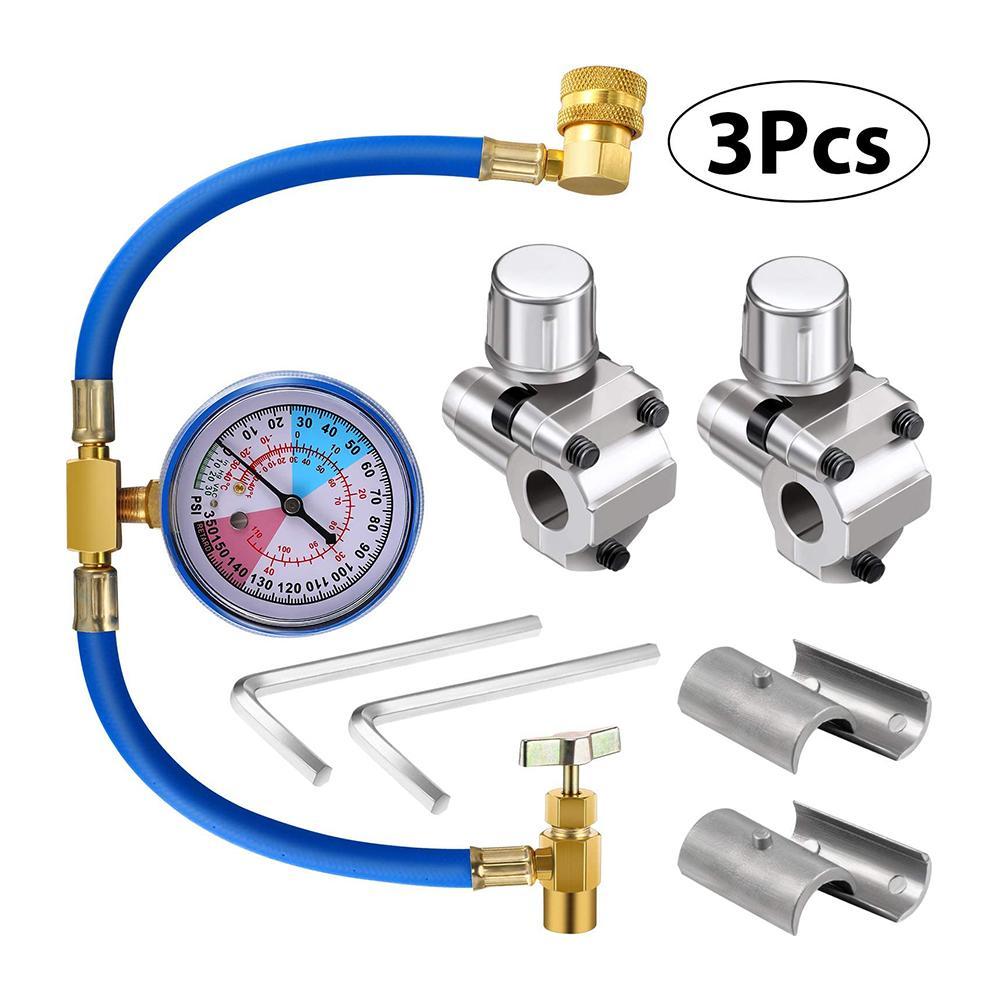 3 unidades de manguera de carga de refrigerante de aire acondicionado con calibre R134a Can a R12/R22 Puerto AC 1/2 reemplazar para AP4502525 BPV31D
