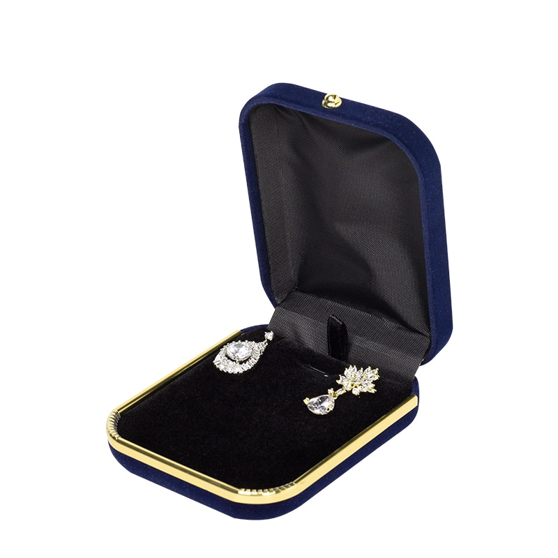 Mew Fashion 2020 Bump Velvet Packaging  Luxury Gold Buttons Jewellery Organizer For  Female