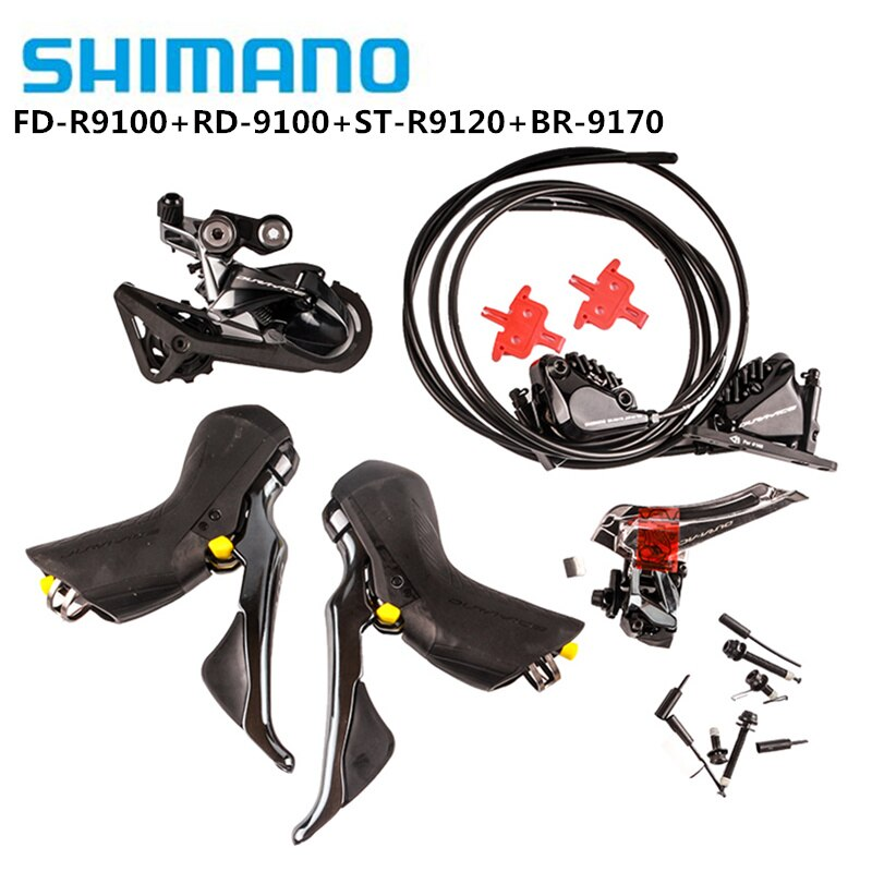 SHIMANO DURA ACE R9100 R9120 R9170 Groupset desviadores de bicicleta de carretera ST + FD + RD Cambio de palanca de CONTROL delantero trasero