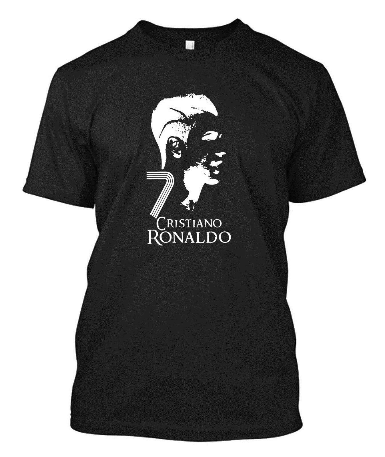 Cristiano Ronaldo CR7-camiseta negra personalizada para hombres camiseta Cool Casual pride camiseta hombres Unisex camiseta de moda envío gratis divertido