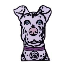 Taches chien broche Wes Anderson film broche île de chiens inspiré badge mignon animal amant cadeau