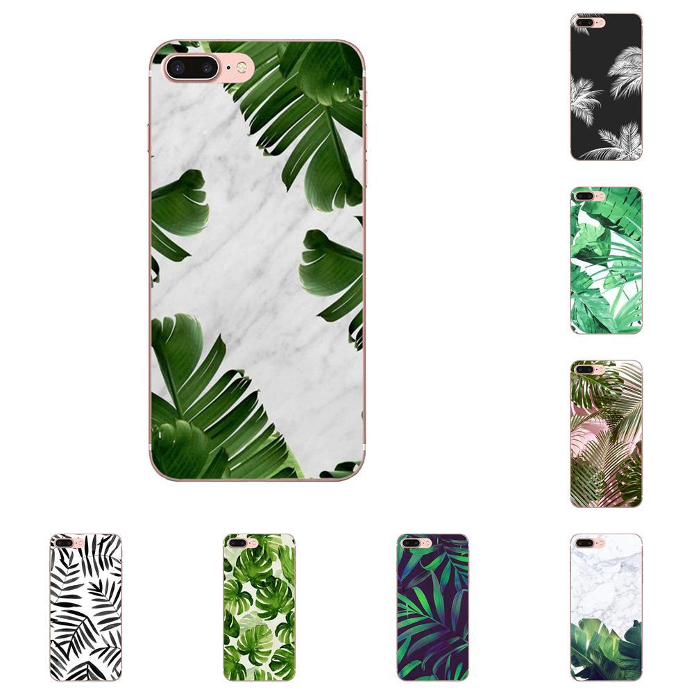 Funda suave cubre plantas Banana árbol hojas Diy para Samsung Galaxy Note 5 8 9 S3 S4 S5 S6 S7 S8 S9 S10 5G mini Edge Plus Lite
