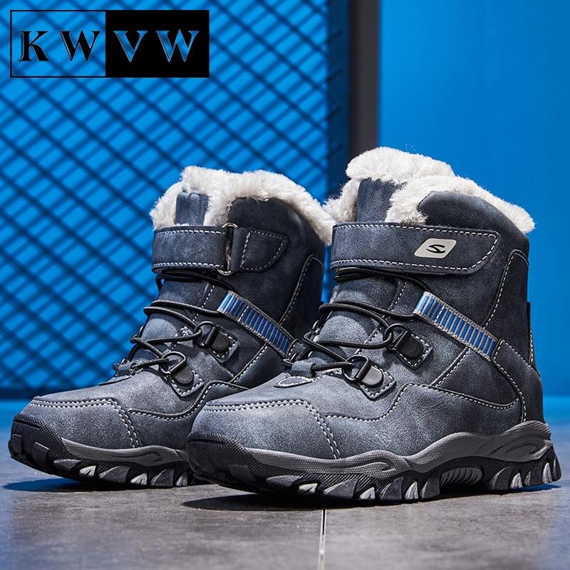 Chaussures de neige en velours pour enfants, en coton pur, bottines de Sport antidérapantes, chaudes et durables, pour garçons et filles