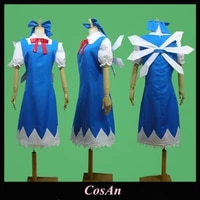 game touhou project cirno cosplay costume the high quality blue white assorted colors uniform role play clothing custom make any