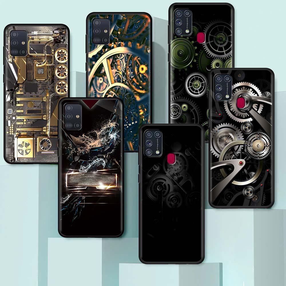 Black Soft Case For Samsung Galaxy A50 A70 A10 A30 A20e M31 A40 M30S M51 Luxury Phone Cover Capas Ba