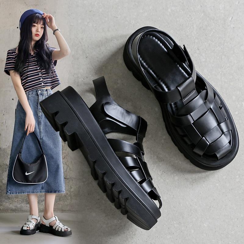 Designer Sandals Platform Heel Sandals Women 2021 Summer Fashion Outdoor Beach Casual Sports Breatha
