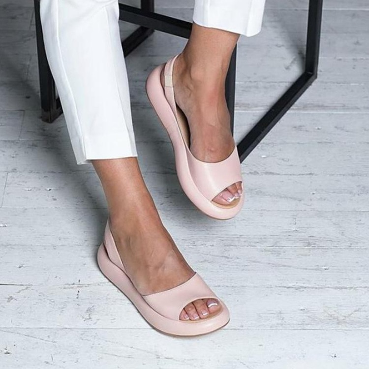 Zapatos planos De cuero para Mujer, Zapatos casuales nuevos De verano 2020, Zapatos De moda para exteriores, sandalias De Mujer para niña o Mujer