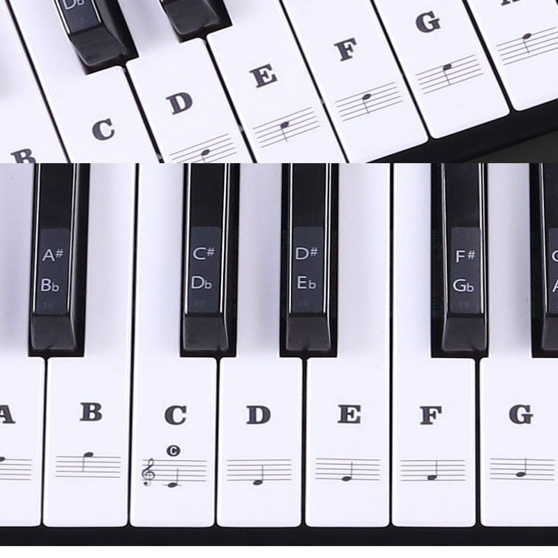 Hot Transparent Piano Keyboard Sticker 54/61 Key Electronic Keyboard Piano Sticker 88 Key Piano Stav