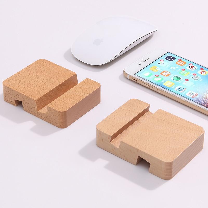 Soporte para teléfono de lujo para iPhone XS XR 7 11 Pro Max soporte de madera para teléfono móvil Samsung S9 S10 soporte para teléfono de escritorio de tableta S8